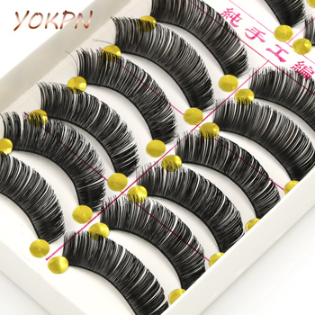 YOKPN Tapered Exaggerated False Eyelashes Fiber Crisscross Natural Fake Eyelashes Studio Art Makeup Thick Eyelashes